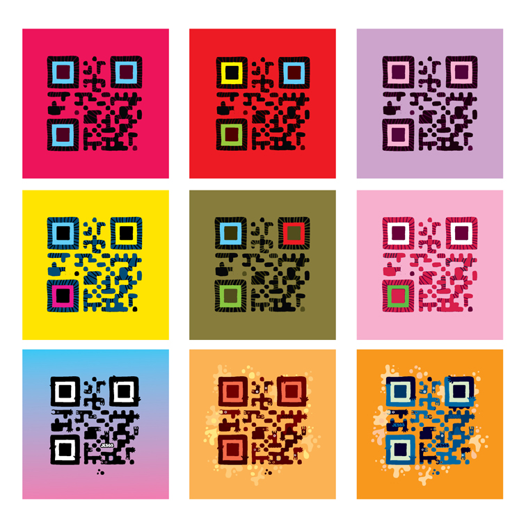 QR Codes inspirados na pop art em Andy Warhol